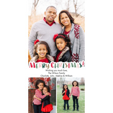 Christmas Photo Cards 4x8 Flat Card Set, 85lb, Card & Stationery -Christmas Colorful Letters