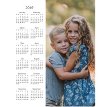 Calendar 11x14 Peel, Stick & Reuse, Home Decor -2019 Calendar - Single Photo