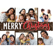 Christmas Photo Cards 5x7 Cards, Premium Cardstock 120lb with Rounded Corners, Card & Stationery -Christmas Bold Merry by Tumbalina