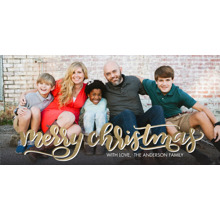 Christmas Photo Cards 4x8 Flat Card Set, 85lb, Card & Stationery -Christmas Script Bold