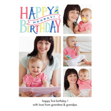 Birthday Greeting Cards 5x7 Folded Cards, Premium Cardstock 120lb, Card & Stationery -Birthday Horray