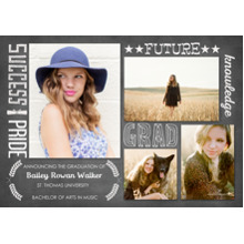 2019 Graduation Announcements 5x7 Cards, Premium Cardstock 120lb with Rounded Corners, Card & Stationery -Inspiring Grad Words