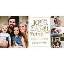 Christmas Photo Cards 4x8 Flat Card Set, 85lb, Card & Stationery -Christmas The Lord Has Come