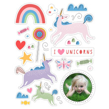 Baby + Kids 16x20 Peel, Stick & Reuse, Home Decor -I Love Unicorns