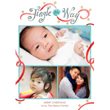 Christmas Photo Cards 5x7 Cards, Premium Cardstock 120lb with Rounded Corners, Card & Stationery -Jingle All the Way