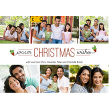 Christmas Photo Cards 5x7 Cards, Premium Cardstock 120lb with Rounded Corners, Card & Stationery -Warm Christmas Wishes