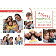 Christmas Photo Cards 5x7 Cards, Premium Cardstock 120lb with Elegant Corners, Card & Stationery -From Our Family to Yours