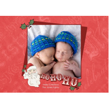 Christmas Photo Cards 5x7 Cards, Premium Cardstock 120lb with Elegant Corners, Card & Stationery -Ho, Ho Holiday