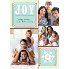 Christmas Photo Cards 5x7 Cards, Premium Cardstock 120lb with Rounded Corners, Card & Stationery -Joy + Snowflake