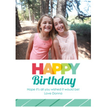 Birthday Greeting Cards Flat Glossy Photo Paper Cards with Envelopes, 5x7, Card & Stationery -Rainbow Greetings