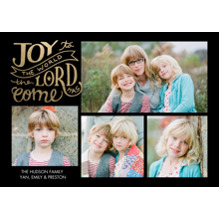 Christmas Photo Cards 5x7 Cards, Premium Cardstock 120lb with Rounded Corners, Card & Stationery -Christmas Rustic Joy to the World Memories