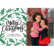 Christmas Photo Cards 5x7 Cards, Premium Cardstock 120lb with Rounded Corners, Card & Stationery -Christmas Florish
