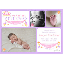 Baby Announcements 5x7 Cards, Premium Cardstock 120lb with Scalloped Corners, Card & Stationery -Blessings Ever After