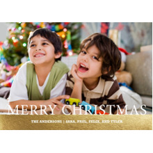 Christmas Photo Cards 5x7 Cards, Premium Cardstock 120lb with Rounded Corners, Card & Stationery -Merry Christmas Serif