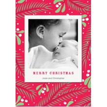 Christmas Photo Cards 5x7 Cards, Premium Cardstock 120lb with Elegant Corners, Card & Stationery -Holiday Cheer