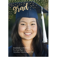 2019 Graduation Announcements 5x7 Cards, Premium Cardstock 120lb with Rounded Corners, Card & Stationery -Grad Sparkles By Tumbalina