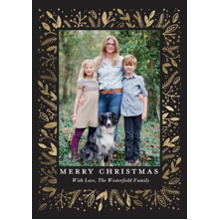 Christmas Photo Cards 5x7 Cards, Premium Cardstock 120lb with Scalloped Corners, Card & Stationery -Christmas Elegant Foliage