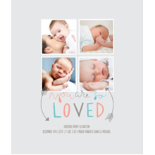 Baby + Kids Framed Canvas Print, Chocolate, 20x24, Home Decor -So Loved
