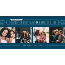 Christmas Photo Cards 4x8 Flat Card Set, 85lb, Card & Stationery -Seasonal Wishes