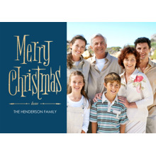 Christmas Photo Cards 5x7 Cards, Premium Cardstock 120lb with Rounded Corners, Card & Stationery -Vintage Christmas