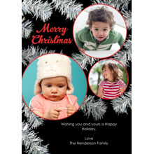 Christmas Photo Cards 5x7 Cards, Premium Cardstock 120lb with Elegant Corners, Card & Stationery -Tinsel Tree