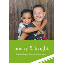 Christmas Photo Cards 5x7 Cards, Premium Cardstock 120lb with Elegant Corners, Card & Stationery -Merry & Bright Holiday