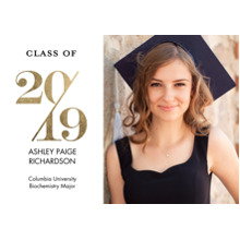 2019 Graduation Announcements 5x7 Cards, Premium Cardstock 120lb with Scalloped Corners, Card & Stationery -2019 Stylish by Tumbalina