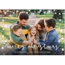 Christmas Photo Cards 5x7 Cards, Premium Cardstock 120lb with Elegant Corners, Card & Stationery -Christmas Scattered Stars by Tumbalina