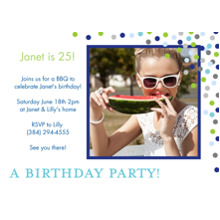 Birthday Party Invites 5x7 Cards, Premium Cardstock 120lb with Elegant Corners, Card & Stationery -Posh Paper Party Confetti
