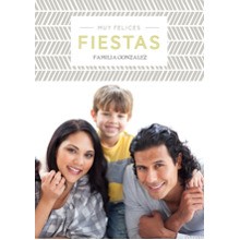 Christmas Photo Cards 5x7 Cards, Premium Cardstock 120lb with Elegant Corners, Card & Stationery -Felices Fiestas Chevron