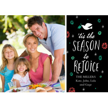 Christmas Photo Cards 5x7 Cards, Premium Cardstock 120lb with Elegant Corners, Card & Stationery -Rejoice
