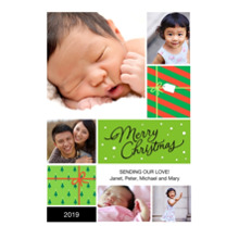 Christmas Photo Cards 5x7 Cards, Premium Cardstock 120lb with Rounded Corners, Card & Stationery -Merry Gifts