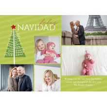 Christmas Photo Cards 5x7 Cards, Premium Cardstock 120lb with Elegant Corners, Card & Stationery -Spanish - Feliz Navidad