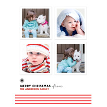 Christmas Photo Cards 5x7 Cards, Premium Cardstock 120lb with Elegant Corners, Card & Stationery -Minimalistic & Merry