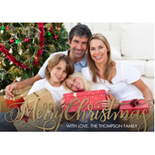 Christmas Photo Cards 5x7 Cards, Premium Cardstock 120lb with Scalloped Corners, Card & Stationery -Christmas Fancy Script