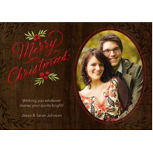 Christmas Photo Cards 5x7 Cards, Premium Cardstock 120lb with Rounded Corners, Card & Stationery -Vintage Christmas Wishes