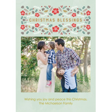 Christmas Photo Cards 5x7 Cards, Premium Cardstock 120lb with Scalloped Corners, Card & Stationery -Christmas Blessings