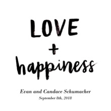 Non-Photo Wood Hanger Board Print, 11x14, Home Decor -Love+Happiness