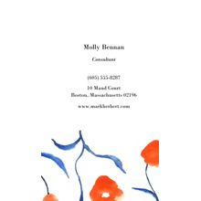 Arts & Media 2x3.5 Business Cards - Double Sided , Card & Stationery -Professional Blurred Flower