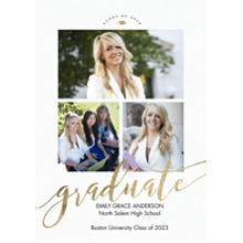 2019 Graduation Announcements 5x7 Cards, Premium Cardstock 120lb with Rounded Corners, Card & Stationery -Graduate 2019 Brilliant by Tumbalina