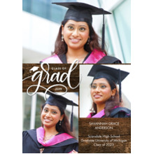 2019 Graduation Announcements 5x7 Cards, Premium Cardstock 120lb with Rounded Corners, Card & Stationery -Grad 2019 Simple Script by Tumbalina