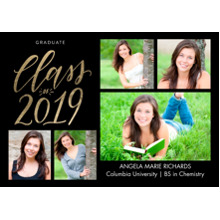 2019 Graduation Announcements 5x7 Cards, Premium Cardstock 120lb with Scalloped Corners, Card & Stationery -2019 Shining Year by Tumbalina