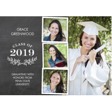 2019 Graduation Announcements 5x7 Cards, Premium Cardstock 120lb with Rounded Corners, Card & Stationery -Grad 2019 Branches by Tumbalina