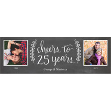 Anniversary Photo Banner 2x6, Home Decor -Chalkboard Anniversary