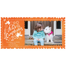 Birthday Party Invites 4x8 Flat Card Set, 85lb, Card & Stationery -Feliz Cumpleanos