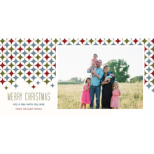 Christmas Photo Cards 4x8 Flat Card Set, 85lb, Card & Stationery -Star Pattern Merry Christmas