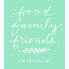 Non-Photo Wood Hanger Board Print, 11x14, Home Decor -Food Family Friends