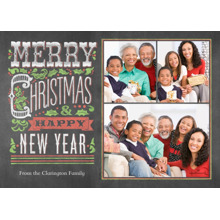 Christmas Photo Cards 5x7 Cards, Premium Cardstock 120lb with Elegant Corners, Card & Stationery -Festive Chalkboard
