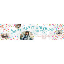 Birthday 2x8 Peel, Stick & Reuse Banner, Home Decor -Confetti Confecion