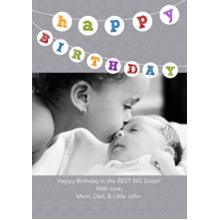 Birthday Party Invites 5x7 Cards, Premium Cardstock 120lb with Elegant Corners, Card & Stationery -Birthday Banner